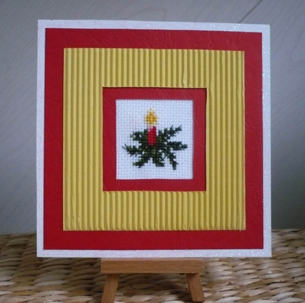 carte noel carton point de croix