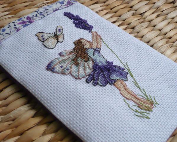 fée lavande point de croix flower fairies