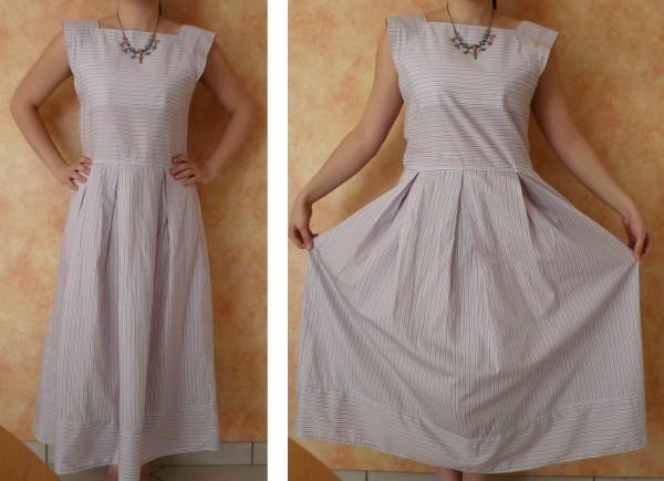 robe à rayures couture japonaise 1 2 3 piquez tout droit