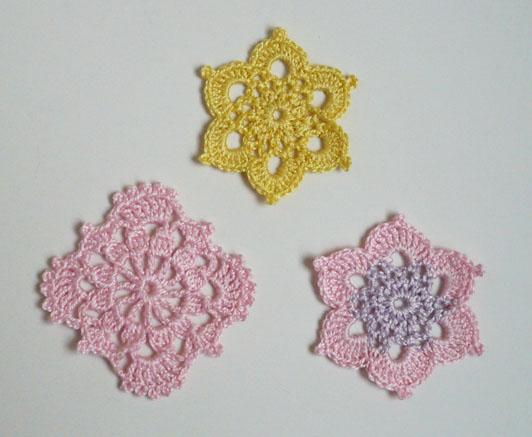 mini napperons pastels diagramme