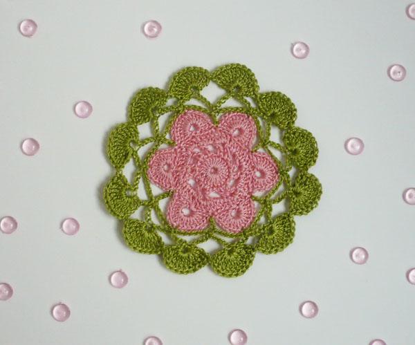 napperon fil fin diagramme fleur