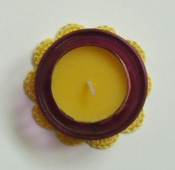 napperon jaune crochet