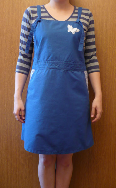 robe salopette bleu couture japonaise