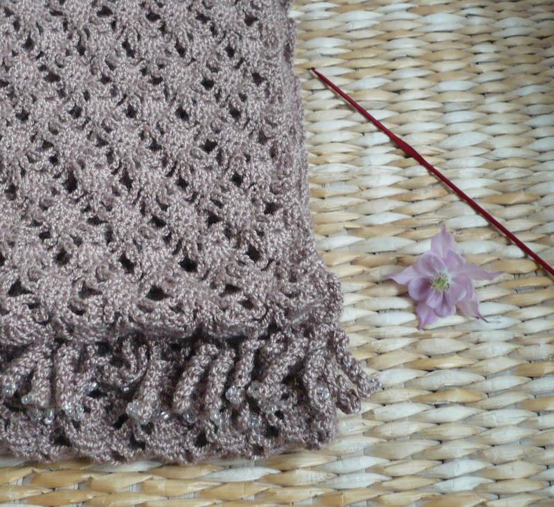 écharpe dentelle au crochet