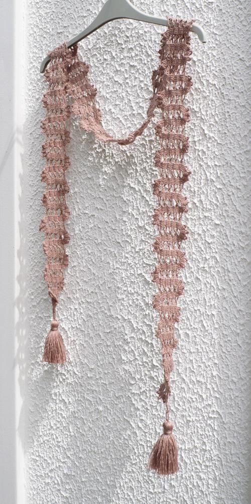écharpe brugeoise crochet