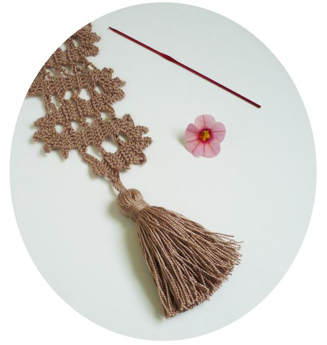 pompon crochet écharpe