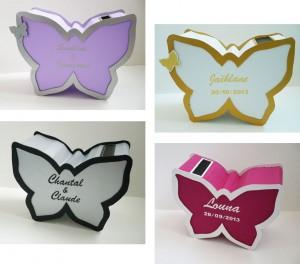urnes papillons