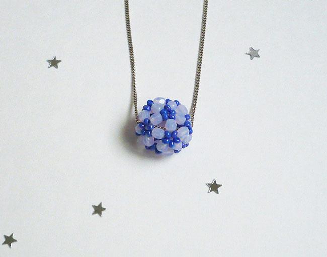 pendentif boule de neige perles boheme 2
