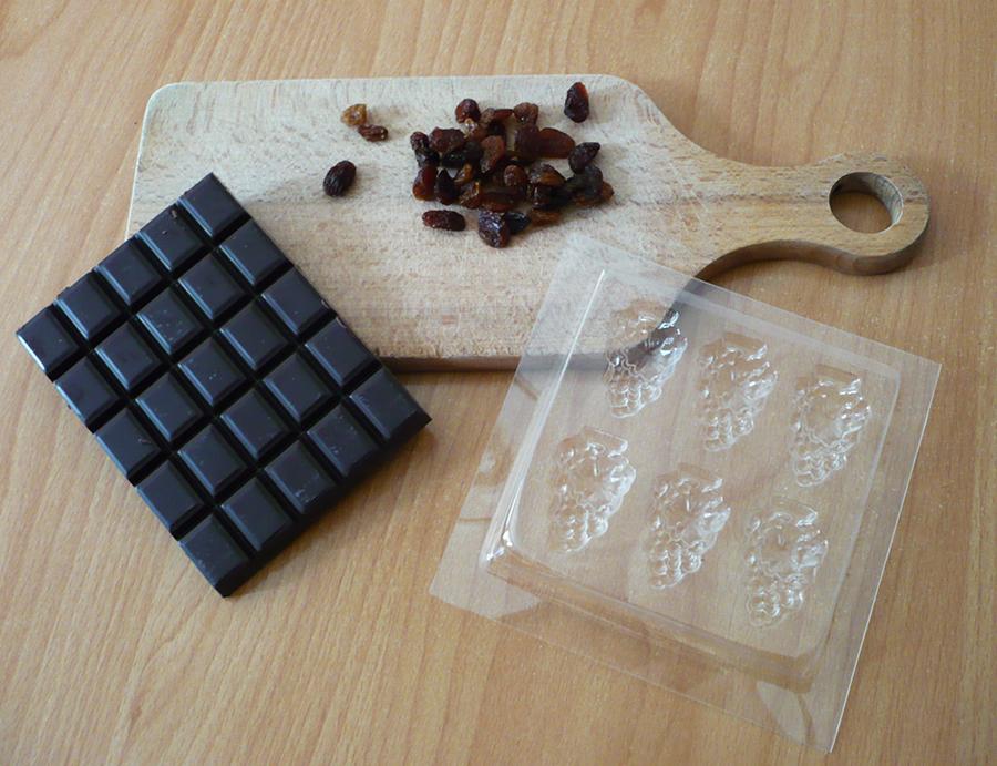 chocolat raisin sec
