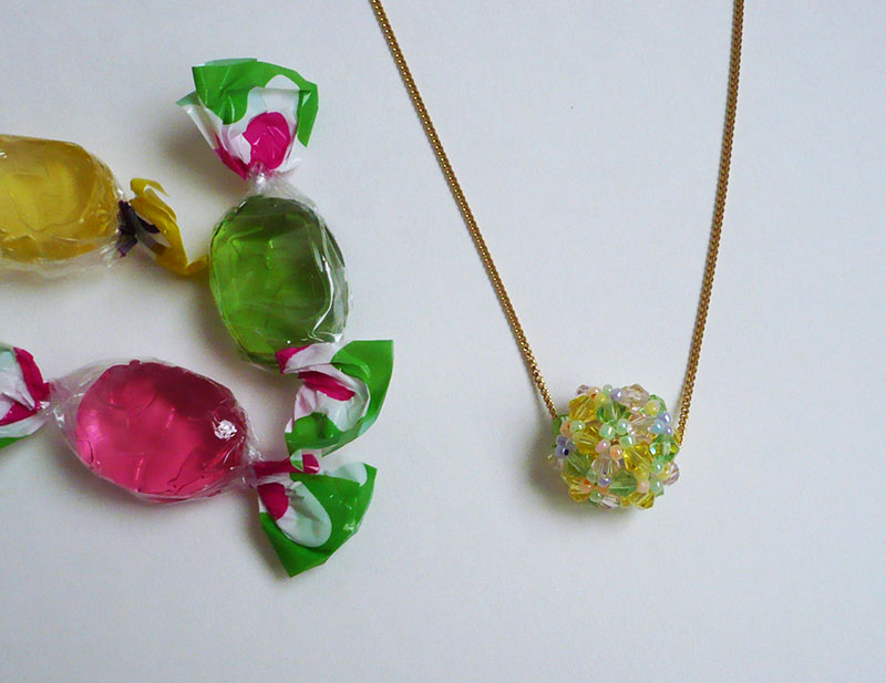 pendentif boule perles swarovski