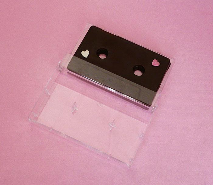 cassette audio en chocolat