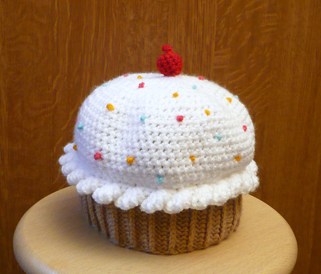 bonnet cupcake au crochet