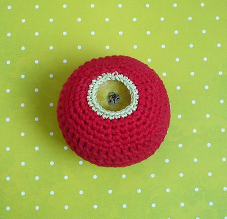 chaussette pomme crochet