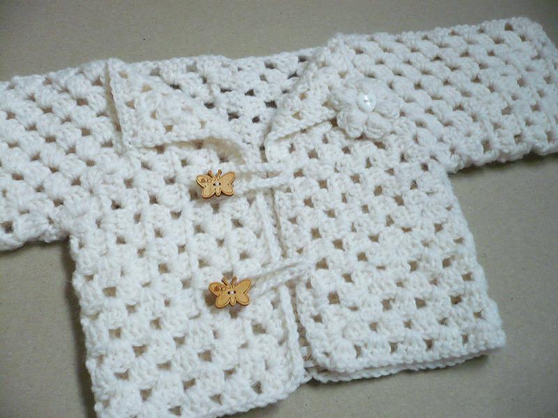 granny shrug bébé crochet