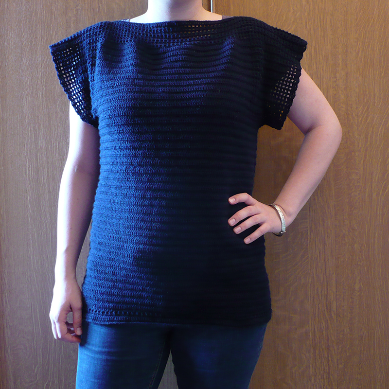 pull crochet manches courtes