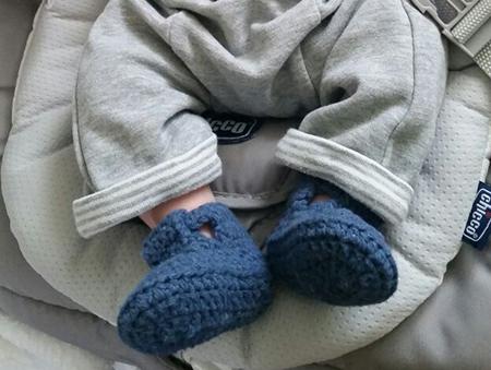 chaussons bébé crochet coton sandales