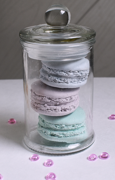 macarons plâtre parfum