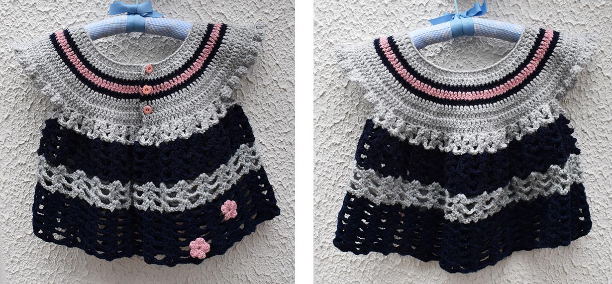 gilet papillon crochet 4,5